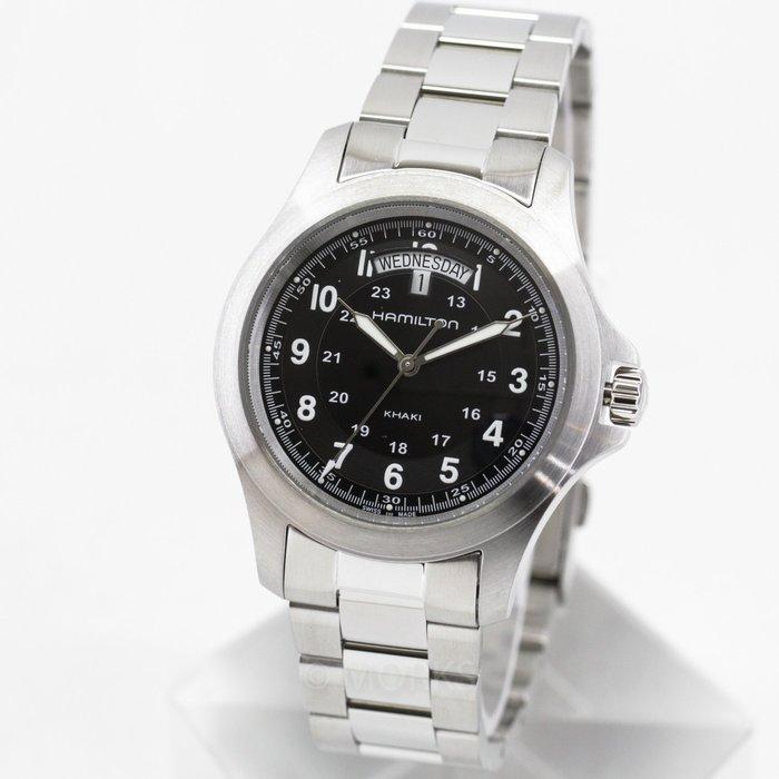 現貨 可自取 HAMILTON H64451133 漢米爾頓 手錶 40mm 卡其系列 日期星期顯示 鋼錶帶 男錶女錶
