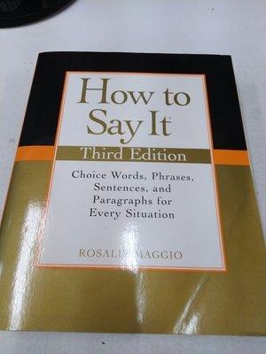 6980銤:fg☆2009年『How to Say It 3/e』Maggio《》