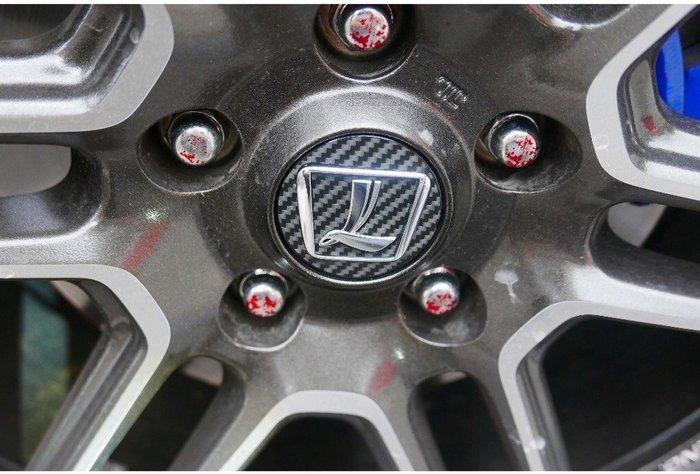 LUXGEN納智捷【U6GT/220鋁圈蓋貼膜】輪圈蓋LOGO貼紙 輪框圓蓋 3M卡夢 輪胎標誌貼 U6GT配件 輪胎貼