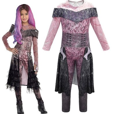 萬聖節變裝秀化裝舞會兒童服裝Descendants星光繼承者女童cosplay派對裝扮 (658)