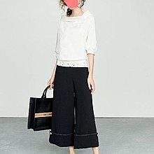 iroo專櫃俐落反摺口袋寬褲         尺寸38          低價2200