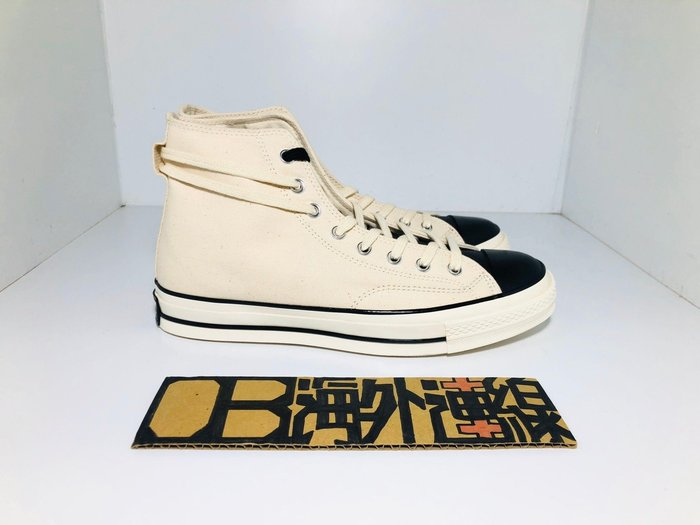 【OB海外代購】CONVERSE X FEAR OF GOD CHUCK 70 米白 黑 高筒 帆布鞋 167955C