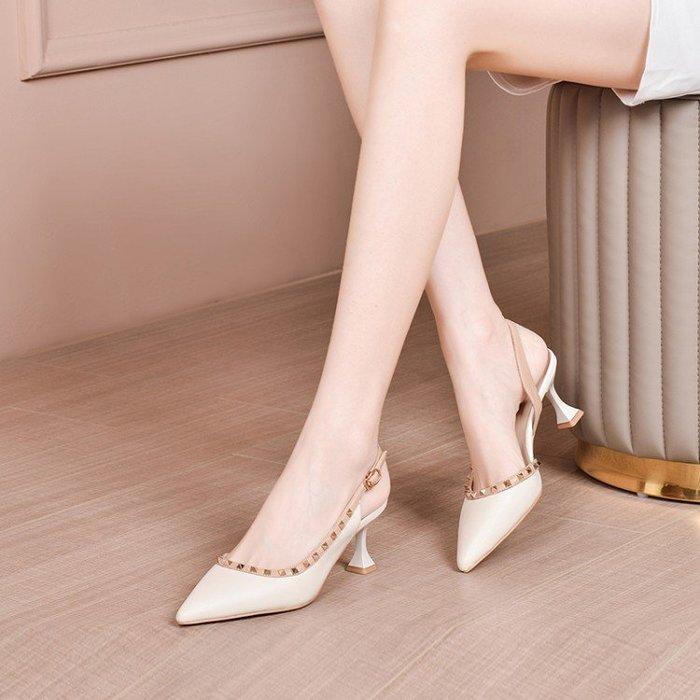 H.G.M 真皮 涼鞋女2020春季新款女鞋,真皮材質 HKA 074