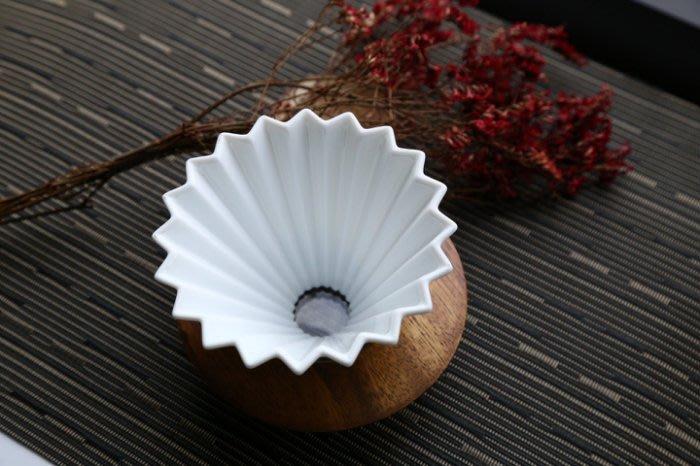 【多塔咖啡】日本進口 ORIGAMI 摺紙咖啡陶瓷濾杯組 M 第二代 (純淨白色) 2019咖啡冠軍專用杯 摺紙濾杯