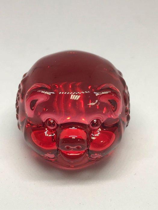 [晶藝坊]琉璃豬(諸事大吉、招財進寶)紅色