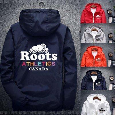 【兩件1000免運】Roots海狸外套 連帽外套 風衣外套 大呎碼 胖子外套 男女款 情侶裝 S-7XL碼