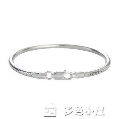 ZIHOPE 純銀圓蛇骨手鍊3MM時尚簡約男女款情侶手鍊女禮物ZI812