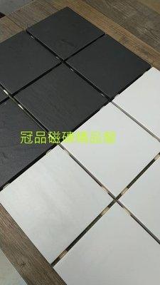 ◎冠品磁磚精品館◎義大利進口精品 板岩石英磚純黑及純白 –10X10 CM
