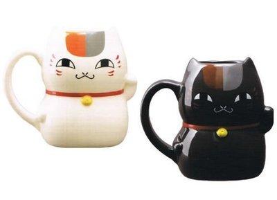 AQI BUY 夏目友人帳 貓咪老師 狸追 白貓/黑貓 招財貓造型 陶瓷 馬克杯 全兩種 日本正版