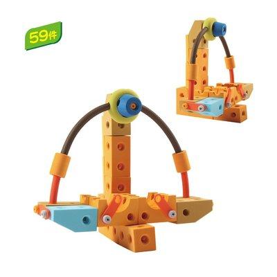 【晴晴百寶盒】台灣品牌格列佛積木-海盜船59PC WISDOM 建構式益智遊戲 教具益智遊戲環保無毒玩具檢驗合格W929