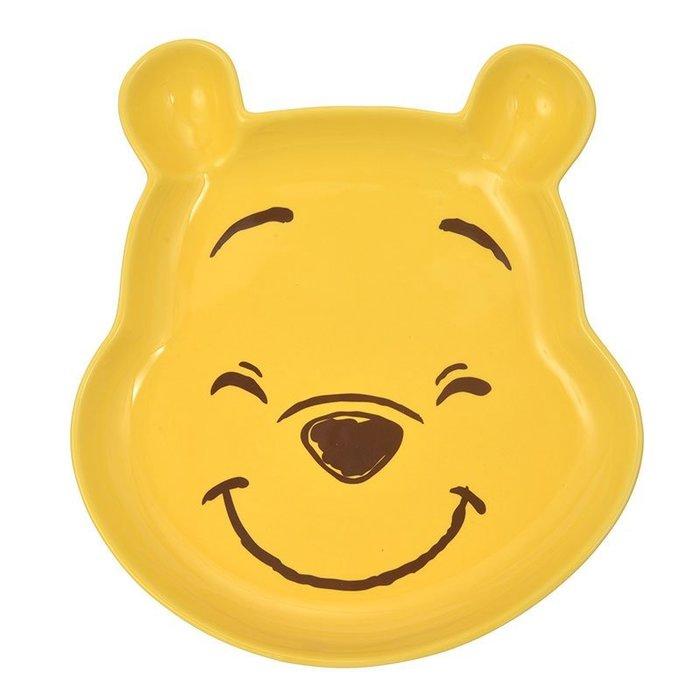 迪士尼Disney《現貨》維尼 微笑大臉 陶磁餐盤 點心盤 水果盤 盤子~日本正品~心心小舖