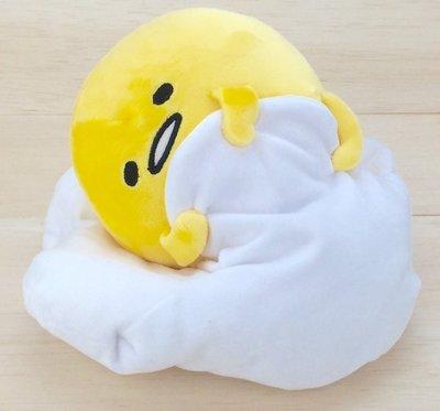 尼德斯Nydus~* 日本正版 三麗鷗 脫力系 蛋黃哥 娃娃 公仔 捲棉被 好累唷 30x21cm -L