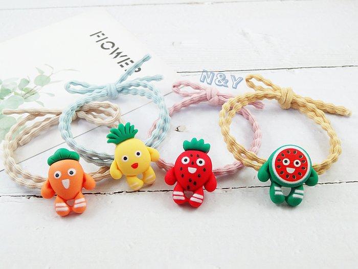 卡通水果寶寶髮圈髮飾髮繩馬尾髮圈HA97多款☆【N&Y】【現貨】