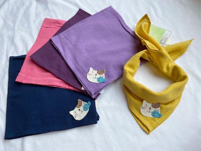 日本卡拉貓~Pon醬小魚抗菌棉方巾 手帕 領巾