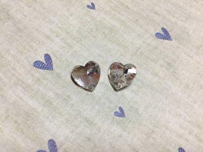 12mm 愛心造型鑽 DIY素材 袖珍小物 奶油殼 貼鑽 飾品材料 (現貨)
