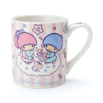 Sanrio 日本正版 Little Twin Stars 雙子星 陶瓷水杯 咖啡杯 LOGO