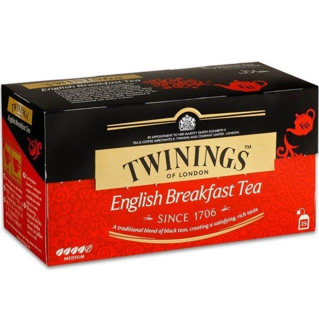 唐寧英倫早餐茶包 2g*25入/盒--【良鎂咖啡精品館】