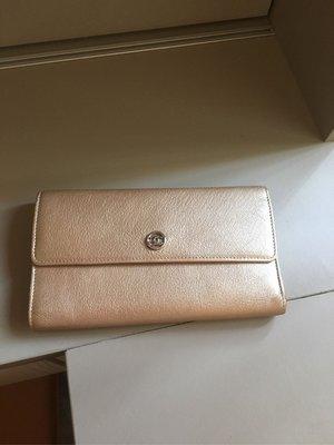 Chanel 香奈兒金色信封長夾 發財包