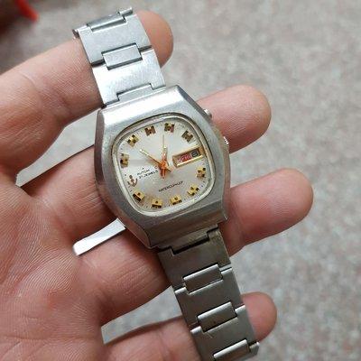 機械錶<行走順暢>日本 TELUX 37mm<大錶徑> 老錶 男錶 另有 賽車錶 飛行錶 軍錶 潛水錶 水鬼錶 女錶 中性錶 E07