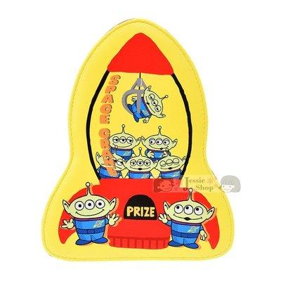 日本東京迪士尼商店 Toy Story 玩具總動員 三眼怪 Q版 立體火箭 夾娃娃機造型 皮革化妝包 收納包 筆袋