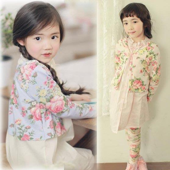 韓版《花朵印花款》百搭長袖外套 (L1-2)