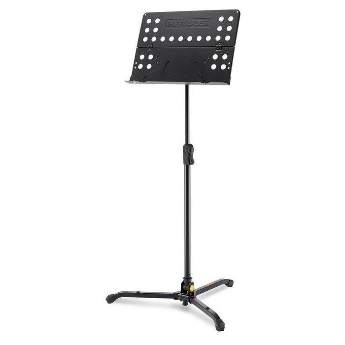 【六絃樂器】全新 Hercules BS311B 坐立二用大譜架 指揮譜架 / 可摺有孔譜板 方便收納攜帶