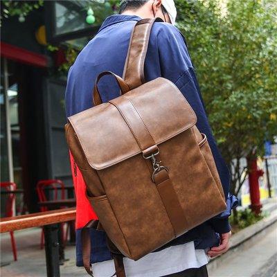 英倫雙肩包男背包商務休閑旅行包男士電腦包時尚潮流青年學生書包