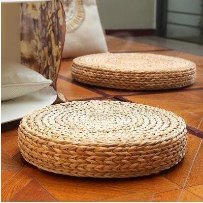 【優上】天然籐編蒲團坐墊榻榻米圓形加厚和室茶道墊子禪修靜坐「香蕉葉植物原色」
