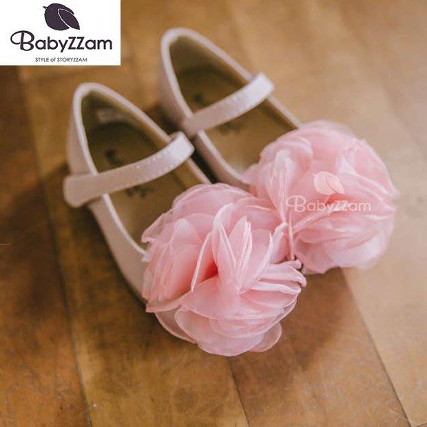 『※妳好,可愛※』妳好可愛韓國童鞋 BABYZZAM~正韓 甜美花朵娃娃鞋 女童鞋 韓國童鞋 花童鞋