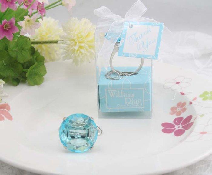 經典鑽戒鑰匙圈 * 婚禮小物 送客禮 情人禮 贈品 開店禮 情人鑰匙圈禮盒 喜糖盒 棉花糖 麥芽糖 馬林糖