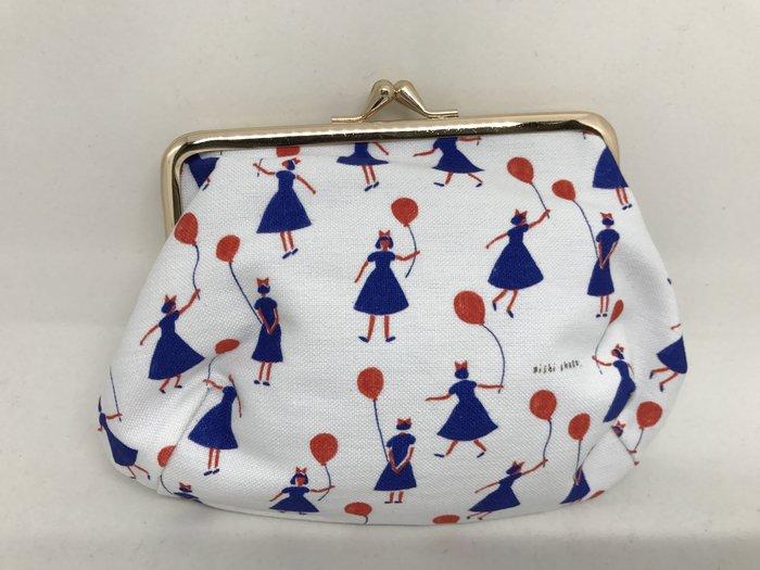 日本製 氣球小女孩 化妝包/零錢包/多功能包