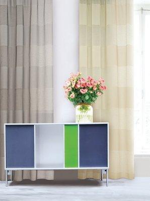 台中窗簾- 大幅寬窗紗系列 ~ 橫條細紋每尺340元特價中《台中市免運費》