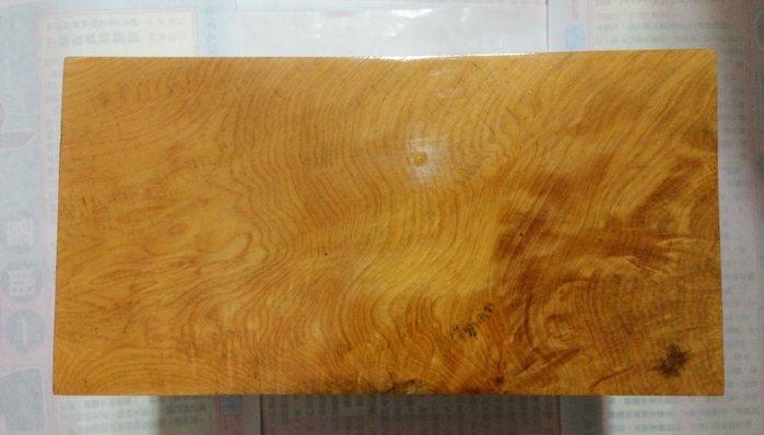 【九龍藝品】台灣黃檜木 ~ 閃花黃金磚 ~ <5>HE-856
