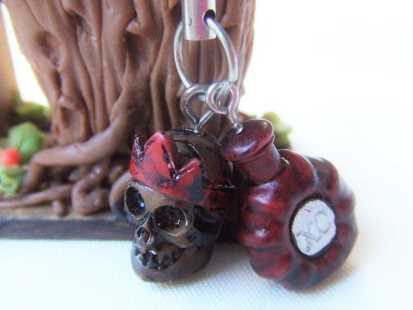 ☆創意小物店☆ 骷髏頭手機吊飾造型個性飾品