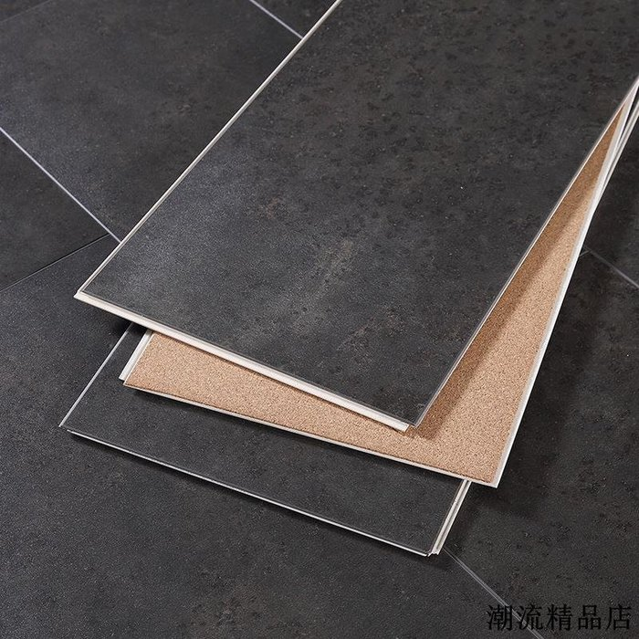 木紋地貼 地貼保護膜 地墊 客廳 臥室地貼 spc鎖扣地板PVC石塑料環保卡扣式家用廚房衛生間防水防滑石紋地板