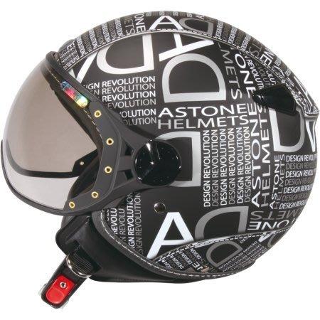 ASTONE KSR-DD53白/黑 消光黑/亮面白 來自法國 3/4罩飛行員安全帽 W鏡片 內襯三角全可拆