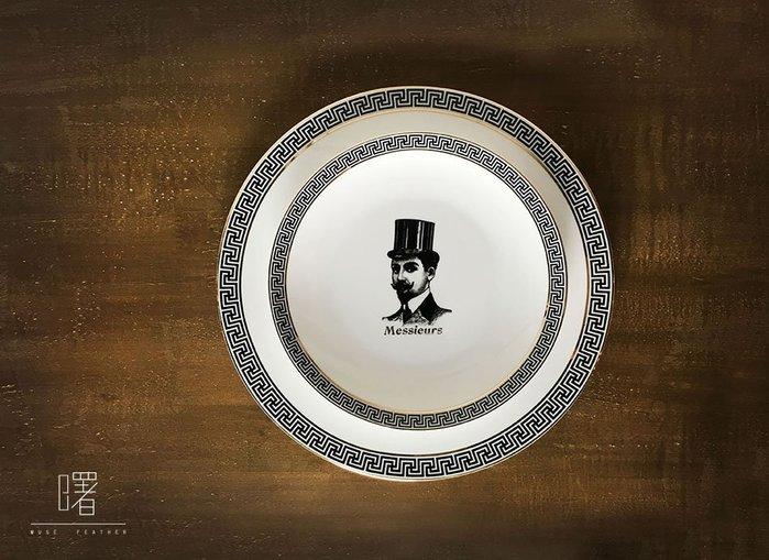 【曙muse】 英紳士花紋金邊茶杯餐盤組 下午茶盤 點心盤   商店居家必選款 咖啡廳 民宿 餐廳 住家