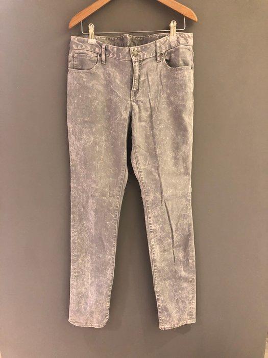 朵拉媽咪【二手9成新】日本購入 復古 淺灰色 刷白 直筒褲 牛仔褲  長褲