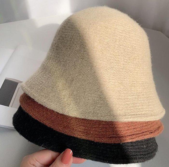 毛帽 親膚 挺括 保暖 氣質 復古日系針織羊毛帽漁夫帽 艾爾莎【TOY2438】