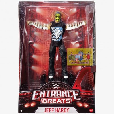 ☆阿Su倉庫☆WWE Jeff Hardy Entrance Greats Elite Figure 出場樂精華版人偶