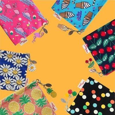 ❅PAVEE❅ 韓國Wiggle Wiggle~ Pouch 街頭甜心 大號時尚純棉手拿包收納化妝包 (L)