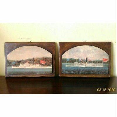 義大利進口~ 精品經典厚框老木頭版畫歐洲風景畫作 壁畫 小品畫 壁飾(絕版經典款)(2幅1組)~特價