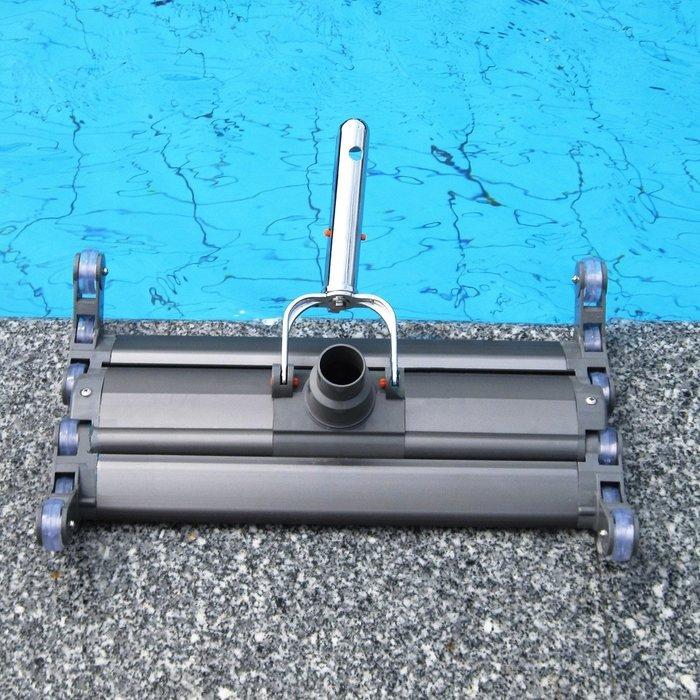 【奇滿來】19寸加重鋁池底吸塵頭 水底吸塵頭 清潔 伸縮桿 多功能可爬牆  爬池壁 池角 清潔更徹底 AQBG