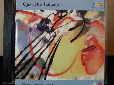 Italiano S.qt,Dvorak,Ravel&Mozart-S.qt義大利四重奏團,德佛扎克-美國,拉維爾&莫扎特第15號-弦樂四重奏,如新。