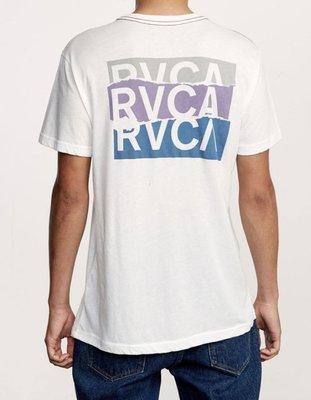 全新 現貨S RVCA OVERLAP T-SHIRT 短tee 復古 騎士 滑板 衝浪