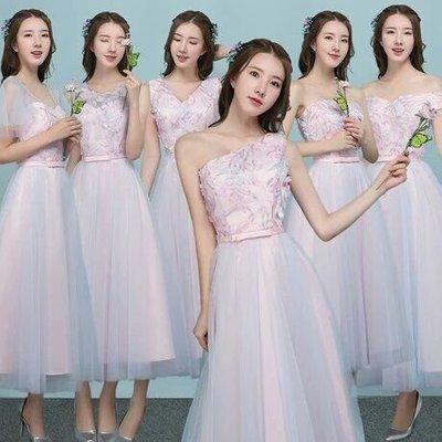 天使佳人婚紗禮服~~~~~~ 伴娘服畢業禮服中長款