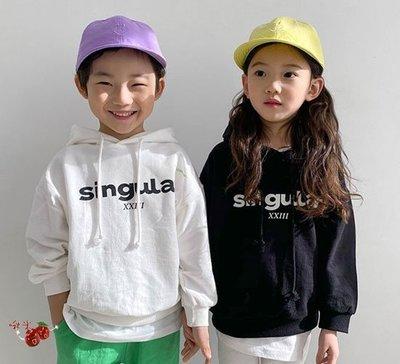 啾米韓國童裝♪~21春~WITTY BOY~Singular簡潔連帽上衣~WB0120-14【8折】