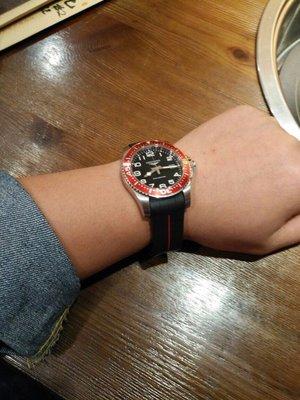 老P玩錶 浪琴 水鬼 通用型橡膠錶帶 膠帶 41mm 浪鬼 完美結合 浪鬼 longines