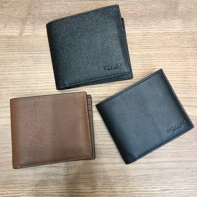 美國AMPM COACH 蔻馳 男款 短款錢包錢夾卡夾 短夾 多款F74991 F75083 F24647 F75371