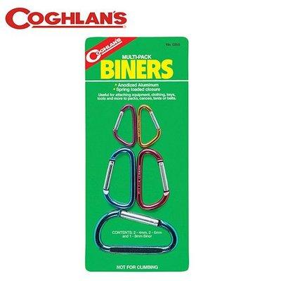 丹大戶外【Coghlans】加拿大 MULTI-PACK BINERS 小鉤環組 0355